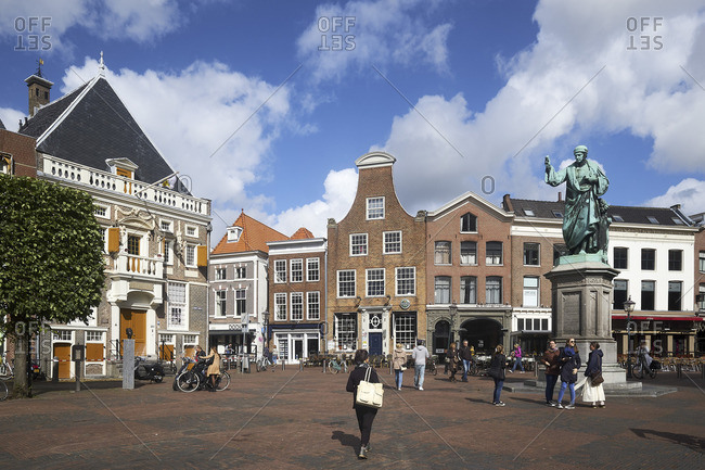 September 12, 2017: Grote Markt, Haarlem, North Holland, Netherlands