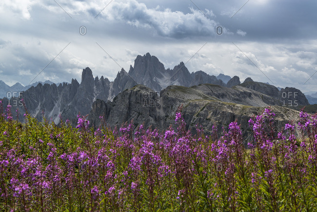 Cadini Group, Three Peaks National Park, Dolomites, South Tyrol, Italy