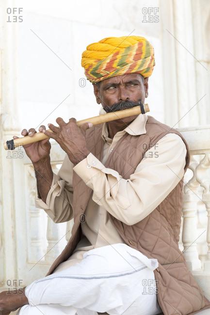 February 12, 2016: Portrait, Jaswant Thada Kenotaph, Jodhpur, Rajasthan, India