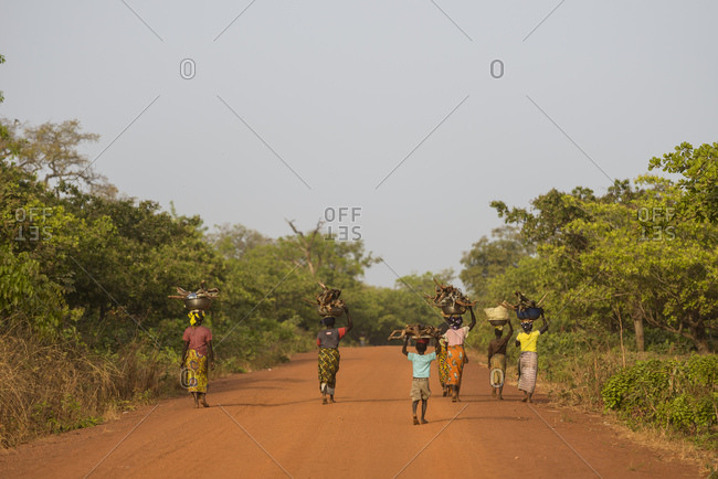 February 9, 2016: Roads of northern Cote D'Ivoire (Ivory Coast)
