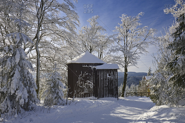 Goethe hunting lodge at the Kickelhahn at Ilmenau, Thuringia, Germany