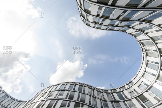 July 26, 2015: Facade, Modern Architecture, Die Welle, Hamburg, Germany