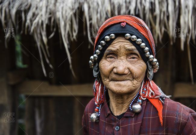 June 11, 2011: Akk-su ethnic minority woman. Southern Yunnan, China