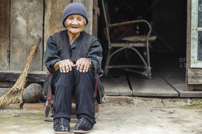 June 11, 2011: Bulang ethnic minority old woman, Xishuangbanna, Yunnan, China