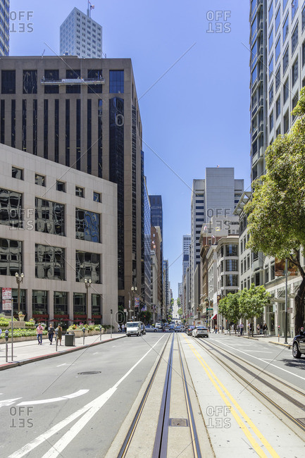 June 19, 2017: California Street, Downtown, San Francisco, California, USA