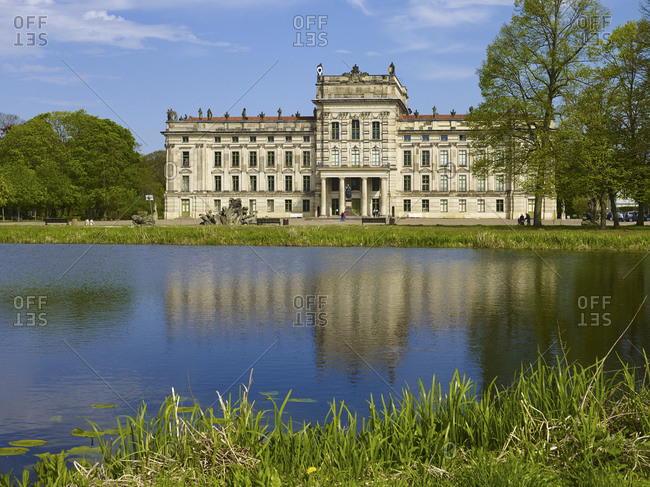 May 5, 2015: Baroque Palace Ludwigslust, County Ludwigslust-Parchim, Mecklenburg-Vorpommern, Germany