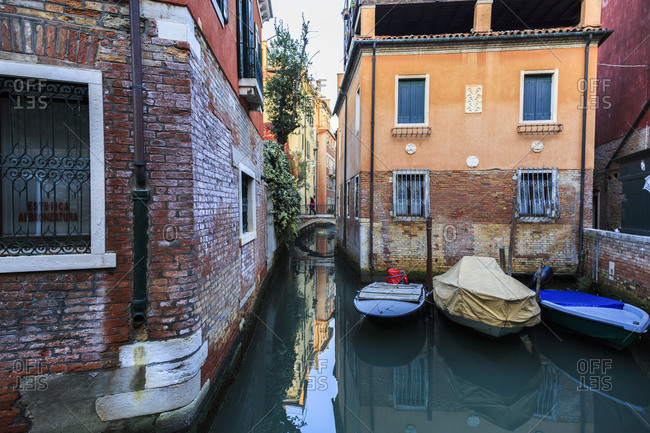 November 5, 2015: Reflection in a canal in Venice, Italy