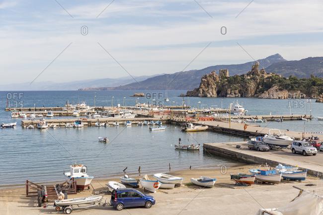 November 9, 2013: The new port of Cefalu, Sicily, Italy