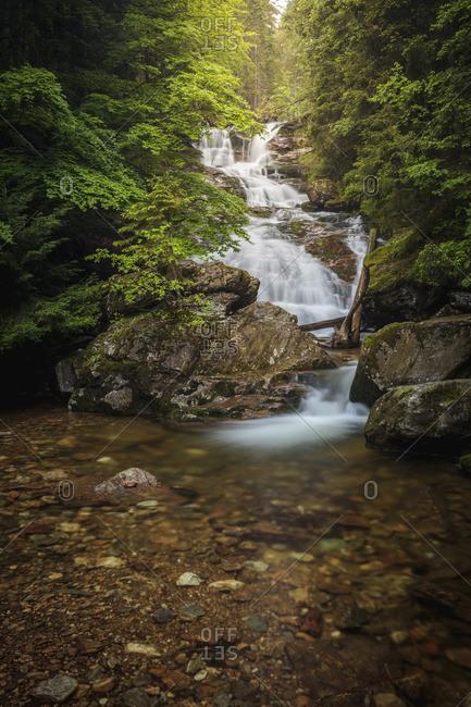 Rissloch waterfall near Bodenmais, Bavarian Forest National Park, Bavaria, Germany