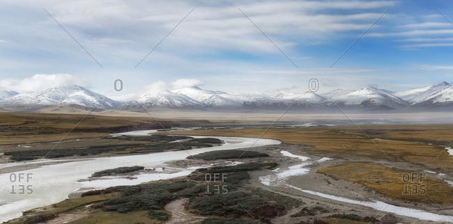 Rivers and streams on the Tibetan Plateau, Qinghai Province, China