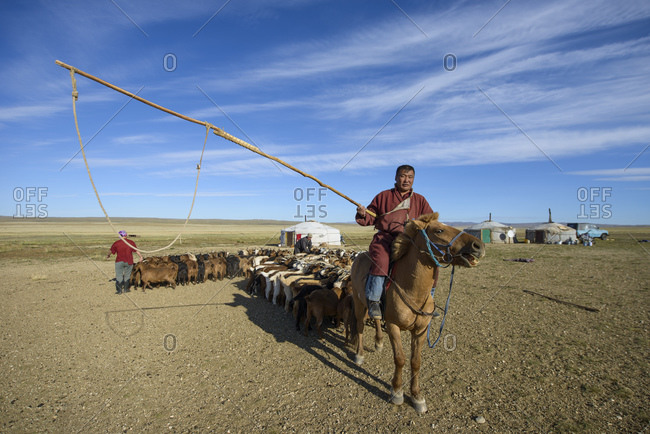September 15, 2013: Mongolian nomad of the Gobi Desert, Mongolia