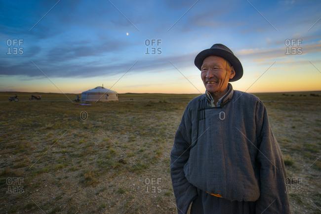 September 15, 2013: Mongolian nomad of the Gobi Desert, Mongolia