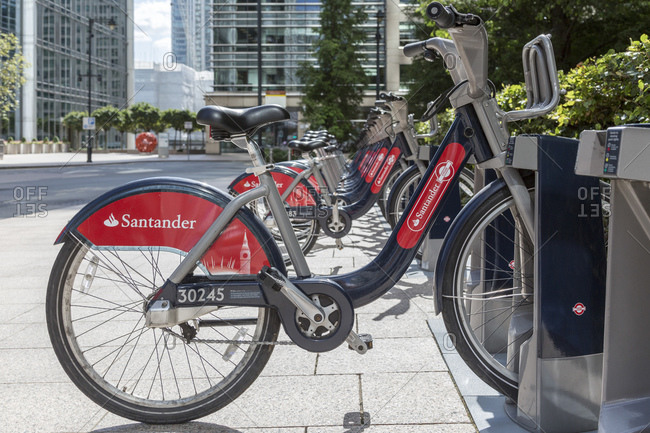 September 6, 2015: Santander Cycles, bike rental system, London, UK