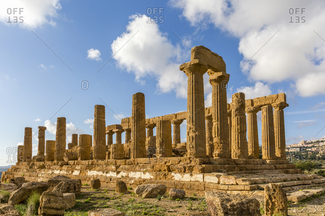 Temple of Heracles, the archaeological sites of Agrigento, Sicily, Italy