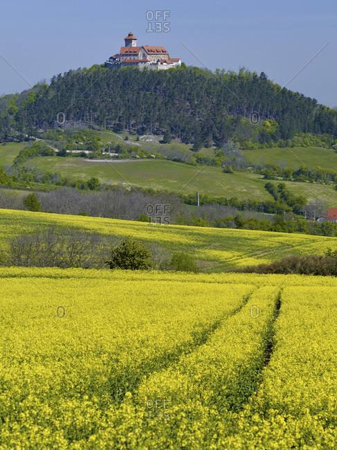View to Veste Wachsenburg near Holzhausen, Drei Gleichen, Thuringia, Germany