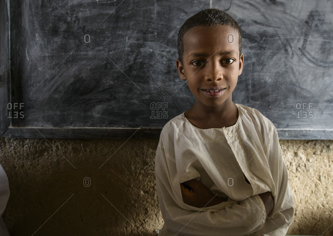 April 23, 2014: Child of a school in central Sahara, Sudan