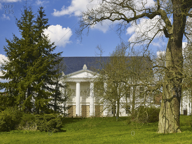April 29, 2015: The theater in Putbus, Ruegen, Mecklenburg-West Pomerania, Germany