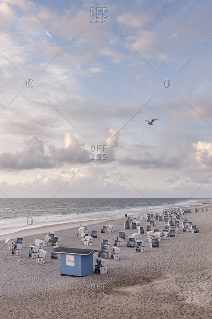 August 30, 2014: Rotes Kliff beach section, Kampen, Sylt Island, Germany