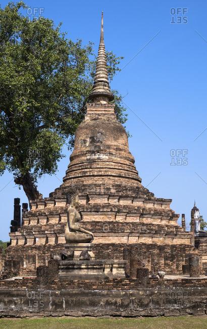 Chedi in the Sukhothai Historical Park, UNESCO World Heritage Site, Thailand