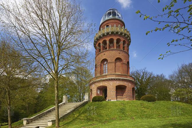 E.M. Arndt tower on the Rugard in Bergen, Rugen, Mecklenburg-Vorpommern, Germany
