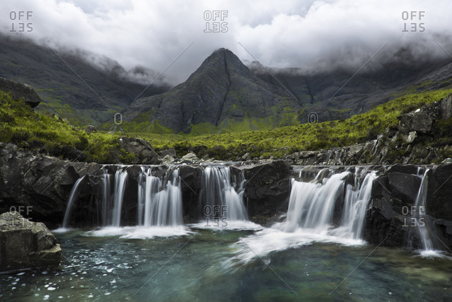 Fairy Falls Waterfalls, Isle of Skye, Scotland, England, United Kingdom, Europe