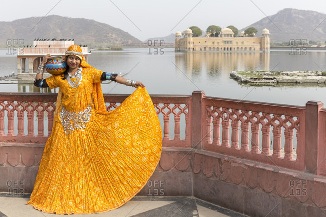 February 15, 2016: Jal Mahal the Water Palace, Jaipur, Rajasthan, India