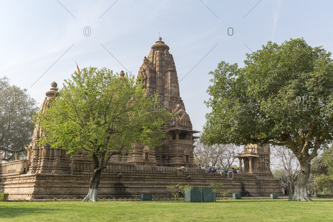 February 19, 2016: Temple district of Khajuraho, Khajuraho, Madhya Pradesh, India