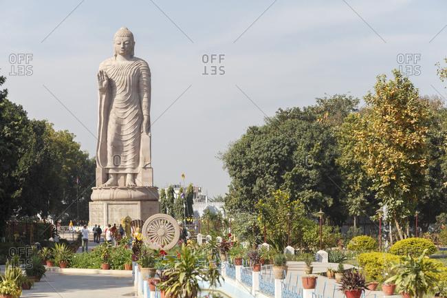 February 22, 2016: Wat Thai Temple, Sarnath, Varanasi, Uttar Pradesh, India