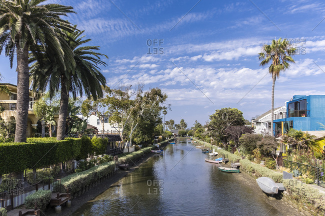 July 6, 2017: Canal district of Venice, Los Angeles, California, USA