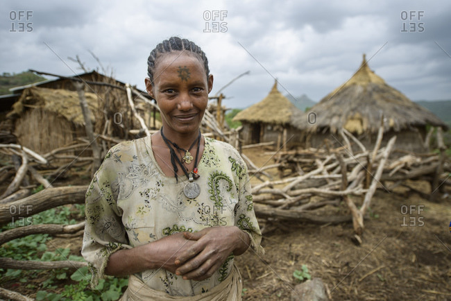June 11, 2014: A woman in her traditional village, North Ethiopia