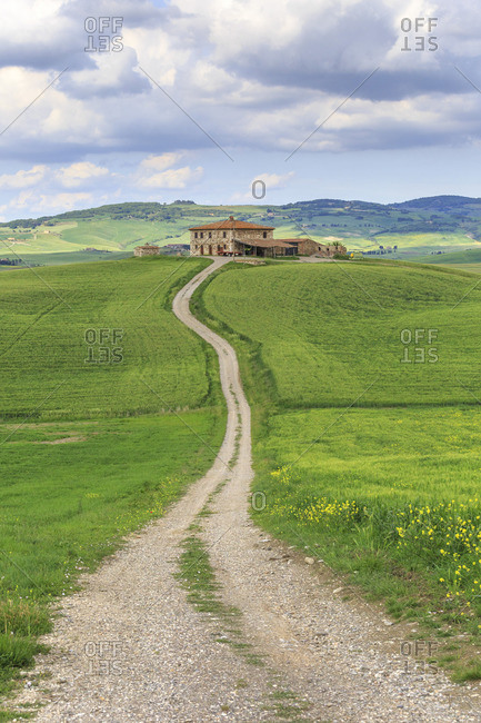 May 10, 2017: The landscape of the Val d'Orcia, Tuscany, Italy