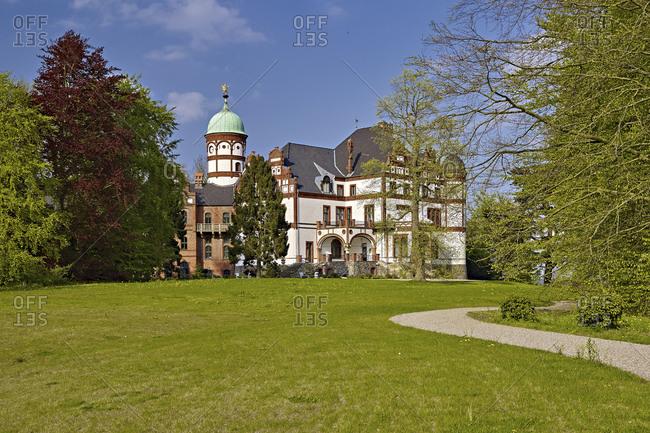 May 4, 2015: Wiligrad Castle near Schwerin, Lubsdorf, Mecklenburg-West Pomerania, Germany