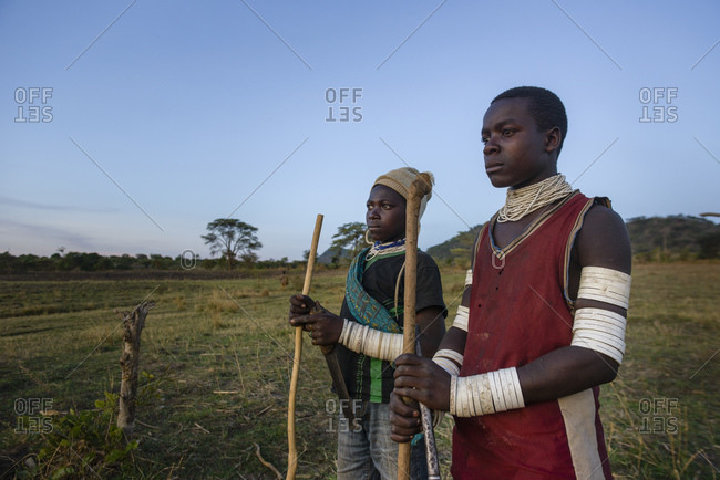 November 11, 2014: Shepherds of the Sukuma tribe, Western Tanzania, Africa