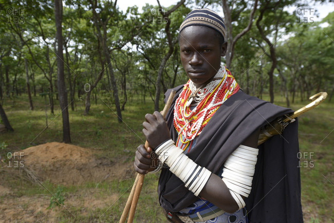 November 7, 2014: Shepherds of the Sukuma tribe, Western Tanzania, Africa