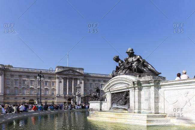 September 10, 2015: Queen Victoria Memorial at Buckingham Palace, London, UK