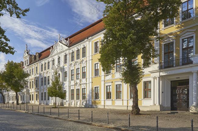 September 25, 2016: State Parliament building on Domplatz, Magdeburg, Saxony-Anhalt, Germany