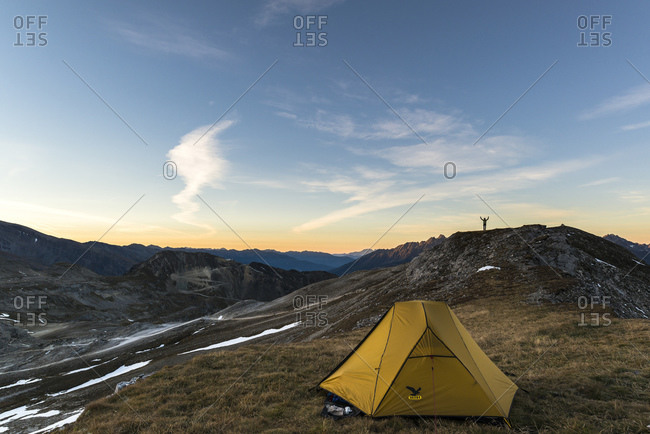 September 29, 2014: Tent in the Hohe Tauern National Park, Austria