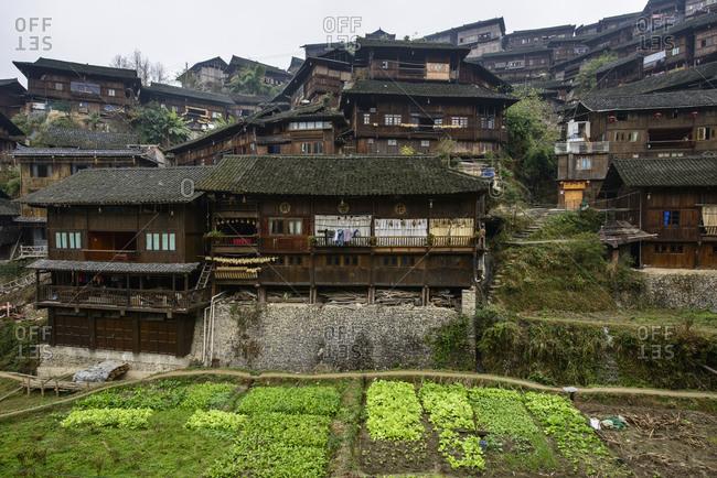 Traditional village of the Miao indigenous people, XiJiang, Guizhou Province, China