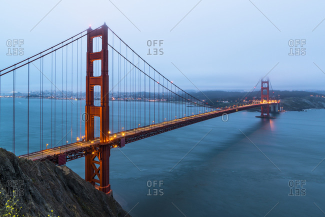 View from the Golden Gate Bridge, skyline, San Francisco, California, USA