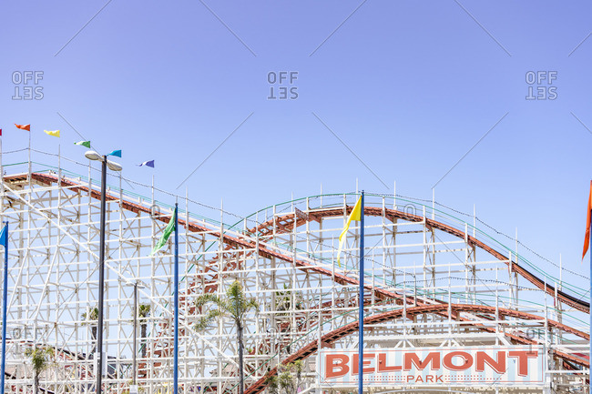 July 3, 2017: Legendary roller coaster, Belmont Park, San Diego, California, USA