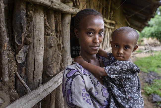 June 10, 2014: Mother and daughter in a village in northern Ethiopia