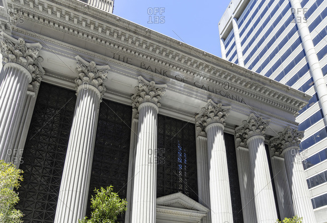 June 19, 2017: Modern and Historic Architecture, Downtown, San Francisco, California, USA