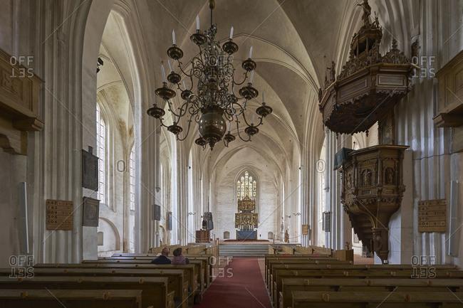 June 22, 2015: Stadtpfarrkirche St. Marien Wittstock Dosse, Landkreis Ostprignitz-Ruppin, Brandenburg, Germany