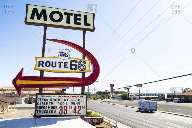 June 4, 2016: Motel Route 66 in Kingman, Mohave County, Arizona, USA