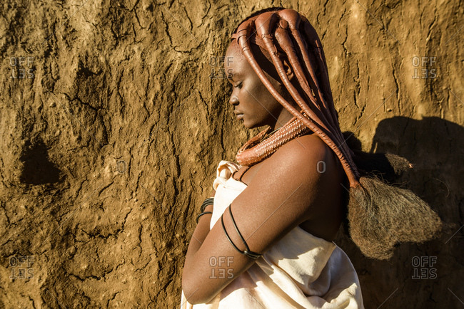 June 5, 2015: Girls from the Himba tribe in Kaokoland, Namibia, Africa