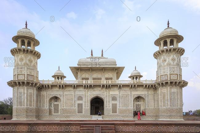 March 7, 2016: Itimad-ud-Daula Mausoleum or Baby Taj, Agra, Uttar Pradesh, India