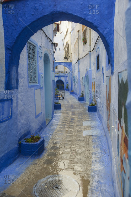 May 11, 2016: Streets and alleys of the Medina of Chefchaouen, Morocco
