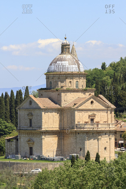 May 9, 2014: The Madonna di San Biagio church, Montepulciano, Tuscany, Italy
