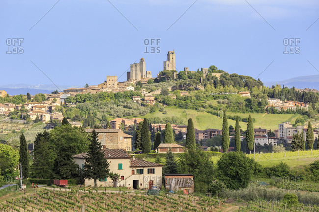 San Gimignano, also called City of Towers, Province of Siena, Tuscany, Italy