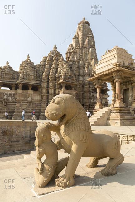 February 19, 2016: Kandariya Mahadeva Temple, Khajuraho Temple District, Khajuraho, Madhya Pradesh, India